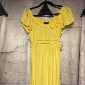 Max Edition Yellow dress NWT